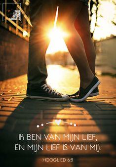 Ik ben van mijn lief, en mijn lief is van mij. Hooglied 6:3  #Liefde  http://www.dagelijksebroodkruimels.nl/quotes-bijbel/hooglied-6-3/