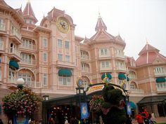 The Pink Palace In Disneyland, Paris.