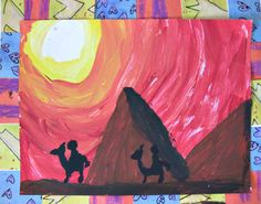 MaryMaking: Egyptian Tint and Shade Landscapes 7 Arts, 2nd Grade Art, Grade 3, Shade Landscaping, Egypt Art, Ancient Egyptian Art, Art Lessons Elementary, Summer Art, Art Plastique