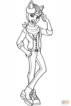 Coloring Page Frankie Stein Hold Hyde Kids N Fun See More Monster High Pages Clawdeen Wolf Of