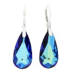 Náušnice Drop s kryštálmi Swarovski Elements Bermuda Blue c77066328f3