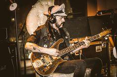 Lemmy's working on bass in the studio for the new album! #MotörheadForLife