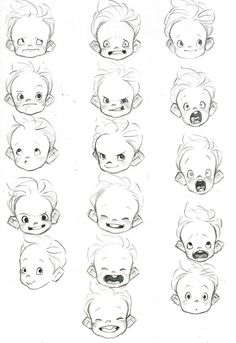 This is a great example of baby heads. I've been studying this one for a bit, as I'm also currently working on a project involving baby heads... I promise that's not ominous.