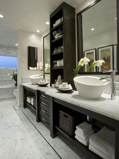 Vessel sinks can look amazing and add a spa element to your new bathroom remodel!