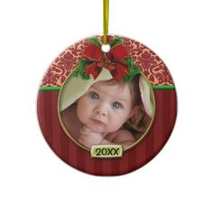 Babys First Christmas Photo Frame Ornaments