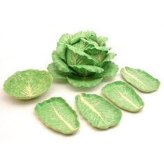 Dodie Thayer Lettuce Ware Leaf Pottery, 7 pieces including a soup tureen in the form of a lettuce head, . on Mar 2010 Kitchenware, Tableware, Cabbage Leaves, Lettuce Leaves, Easter Brunch, Tablescapes, Dinnerware, Decoration, Plant Leaves
