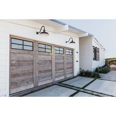 Reclaimed wood custom garage door