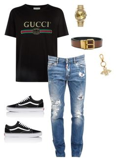 """""""Untitled #657"""" by aintdatjulian on Polyvore featuring Gucci, Vans, Coach, Dsquared2, Rolex, men's fashion and menswear"""