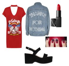"""""""Untitled #16"""" by brea-ryan ❤ liked on Polyvore featuring WearAll, River Island, Marc Jacobs and NARS Cosmetics"""