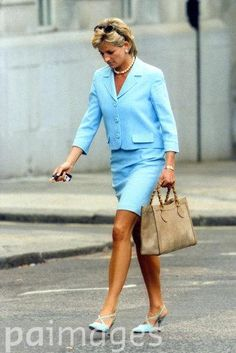 August 21 1996 Diana is spotted leaving Raine Spencer's home in West London