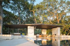 Poolside Pavilion Designed by Murray Legge Architecture in Austin, Texas, USA