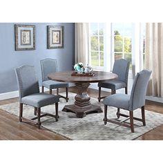 Best Master Furniture Eton Blue Wood 5-piece Dining Set