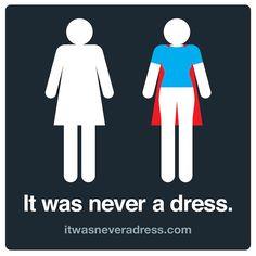 Creative 'Reveals' Women's Bathroom Sign Figure Is Not Wearing A Dress - DesignTAXI.com