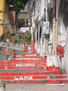 Lapa steps to favela