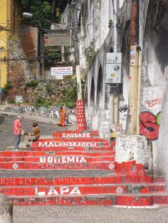Lapa steps to favela
