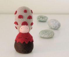 Mushroom felt plushie doll / Shaggy Mane by shroompers on Etsy, Felt Mushroom, Truffle Mushroom, Doll Sewing Patterns, Child Love, Imaginative Play, Felt Toys, Shaggy, Plushies, A Boutique