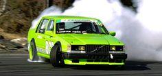 740 drift car in action