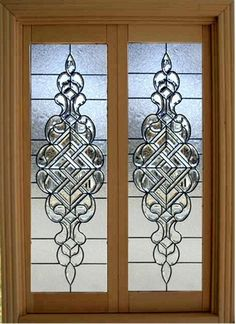 Dollhouse Miniature 1:12 Scale Artisan Leaded Glass French Doors. $85.00, via Etsy. Such talent