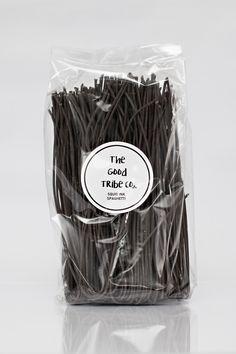 Contains NO preservatives, artificial colours or flavours Squid Ink Spaghetti, Egg Free, Preserves, Colours, Good Things, Products, Preserve, Preserving Food, Pickling