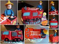 Un camion de pompier! Sam le Pompier Firetruck cake - Sam the fireman !