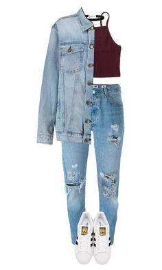 """Untitled #165"" by henal ❤ liked on Polyvore featuring Levi's, adidas Originals, Aéropostale, Miss Selfridge and Current/Elliott"