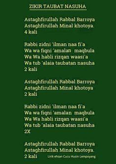 Zikir taubat nasuha *Do you know what 'Taubat Nasuha' means? Hijrah Islam, Doa Islam, Reminder Quotes, Self Reminder, Prayer Verses, Quran Verses, Muslim Quotes, Islamic Quotes, Muslim Religion