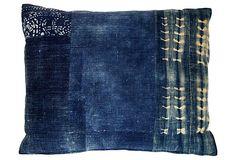 Hmong and African indigo pillow acapillow.com