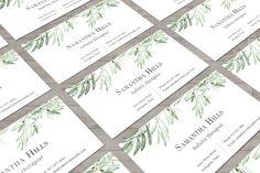 Olive Business Card | Business Card Design | Calling Card | Personal Card | Rustic Business Card | Olive Branch Design | Printable Cards