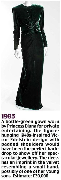 Diana dress, which contains a small handprint. Perhaps from one of her sons?
