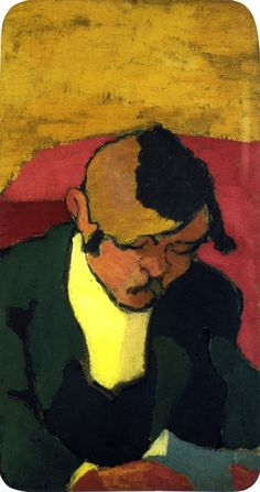 jean-édouard vuillard(1868–1940), man reading, c. 1890. oil on board, 35 x 19 cm. musée d'orsay, paris, france http://www.the-athenaeum.org/art/detail.php?ID=54522