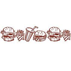 PLUS Deco Roller Refill Hamburgers