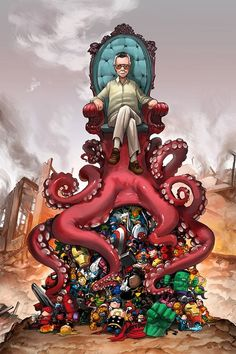 Stan Lee's OctoThrone for Comikaze by *camilladerrico on deviantART