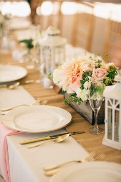 Addison Farms Vineyard - Lantern Table Decor - A.Shore Photography - NC Wedding Planner Orangerie Events