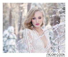 Snow shoot makeup ideas. Pink eyeshadow with blue eyed mmodel, pink lipstick, rosy cheeks
