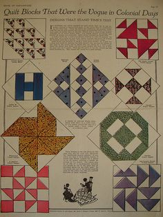 IDEAS - vintage quilt block patterns