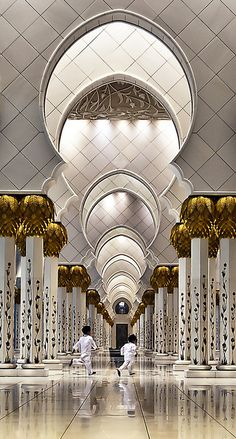 Sheikh Zayed Grand Mosque, Abu Dhabi. Children in such a beautiful place is a sight to see.