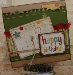 Happy Birthday card using Simple Stories