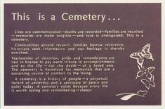 This would be good to post at cemetery entrances to ask people not to play their Pokemon Go in the cemetery.