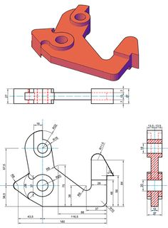 69-Elemento-meccanico.gif (1050×1424) Isometric Sketch, Autocad Isometric Drawing, Isometric Drawing Exercises, Mechanical Projects, Mechanical Engineering Design, Mechanical Design, Orthographic Drawing, Solidworks Tutorial, Interesting Drawings