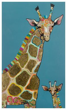 These Eli Halpin art reproductions are a wonderful and affordable alternative to an original painting. Giclée Print made in the USA with non-toxic ink. Canvas Artwork, Canvas Prints, Art Prints, Giraffe Art, Giraffe Images, Giraffe Painting, Jungle Art, Thing 1, Chalk Art