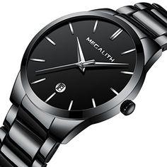 Mens Stainless Steel Watches Men Luxury Waterproof Date C... Stainless  Steel Watch cfd4ee3a782