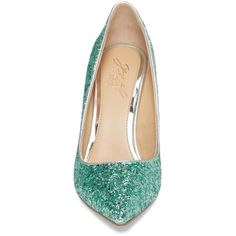 Women's Jewel Badgley Mischka Tegen Pointy Toe Pump (2.055 CZK) ❤ liked on Polyvore featuring shoes, pumps, crystal shoes, badgley mischka shoes, crystal pumps, embellished shoes and glitter shoes