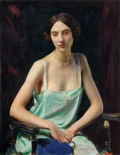 """""""Portrait of a Woman (by George Spencer Watson (English, Oil on canvas. Royal Academy of Arts. Diploma Work given by George Spencer Watson, R., accepted Diploma Works are works of art presented by artists upon. L'art Du Portrait, Female Portrait, Female Art, Harlem Renaissance, Woman Painting, Figure Painting, Royal Academy Of Arts, Painted Ladies, Art Uk"""