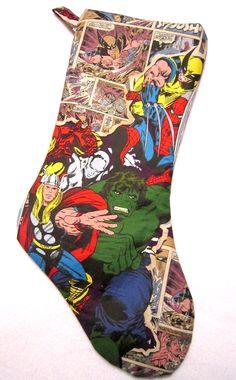 Marvel Avengers Christmas Stocking by ShinyRebellion on Etsy