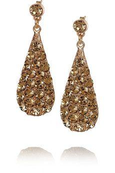 Philippe Audibert- Sottoeveste gold-plated Swarovski crystal earrings