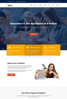 Education Website Templates, Free Website Templates, Website Design Layout, Website Designs, University Website, Job Website, Responsive Layout, Web Project, Information Center