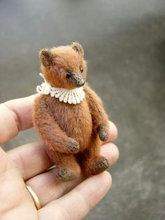 Reserved Miniature Mini Artist Bear Little door aerlinnbears