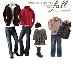 Family Portrait Outfit // Fall outfits in red, black and grey.