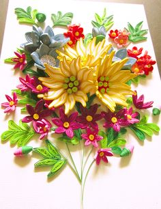 quilling flowers on Behance