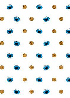 쿠키몬스터3 pattern Cookie monster wallpaper Monster cookies Cute wallpaper backgrounds